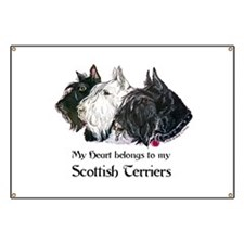 Scottish Terrier Trio Banner
