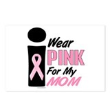 I Wear Pink For My Mom 9 Postcards (Package of 8)