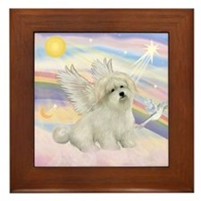 CLOUDS /Coton de Tulear Framed Tile