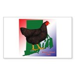 Rhode Island State Bird Rectangle Sticker 50 pk)