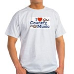 I Love Country Music Ash Grey T-Shirt
