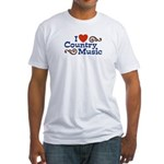 I Love Country Music Fitted T-Shirt