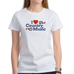 I Love Country Music Women's T-Shirt