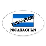 100 Percent NICARAGUAN Oval Decal