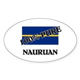 100 Percent NAURUAN Oval Decal