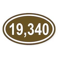 19,340 Mt. Kilmanjaro Brown Euro Oval Decal