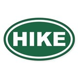 Green Hike Euro Oval Decal