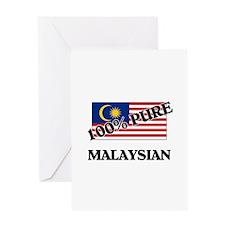 100 Percent MALAYSIAN Greeting Card