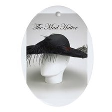 The Mad Hatter - Millinery Oval Ornament