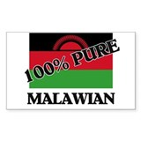 100 Percent MALAWIAN Rectangle Decal