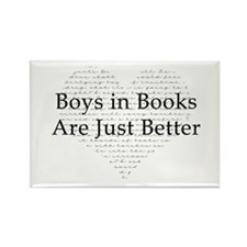 Boys in Books Rectangle Magnet