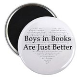 Boys in Books Magnet
