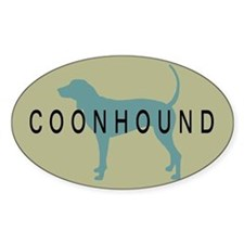 Coonhound Dog Oval Decal