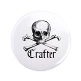 "Crafter - Skull and Crossbone 3.5"" Button (100 pac"