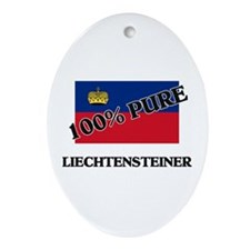 Cute Liechtensteiner map Oval Ornament