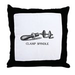 Clamp Spindle Throw Pillow