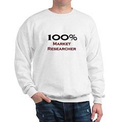 100 Percent Market Researcher Sweatshirt