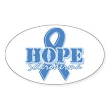 Hope - Scleroderma Oval Sticker (50 pk)