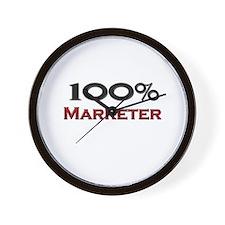 100 Percent Marketer Wall Clock