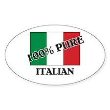 100 Percent ITALIAN Oval Decal