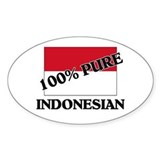 100 Percent INDONESIAN Oval Decal