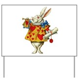 WONDERLAND RABBIT Yard Sign