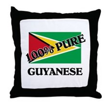 100 Percent GUYANESE Throw Pillow