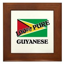 100 Percent GUYANESE Framed Tile