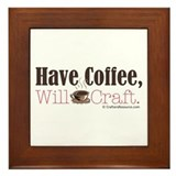Have Coffee, Will Craft Framed Tile