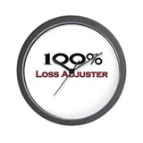 100 Percent Loss Adjuster Wall Clock