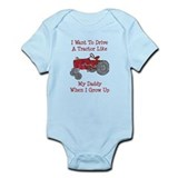 A Red Tractor Like Daddy Infant Bodysuit