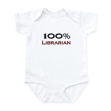 100 Percent Librarian Infant Bodysuit