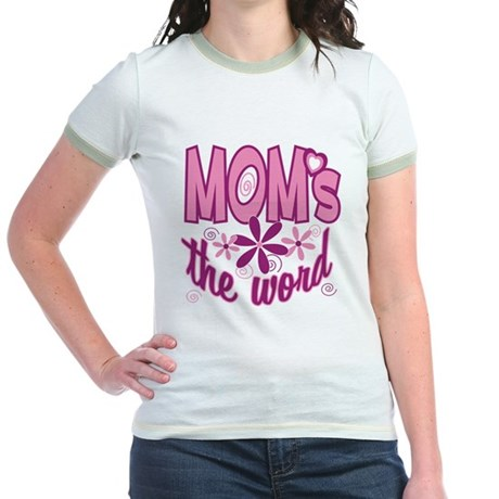 Mom's The Word Jr. Ringer T-Shirt