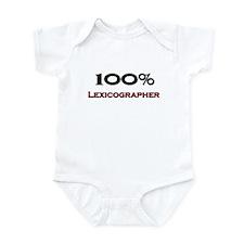 100 Percent Lexicographer Infant Bodysuit