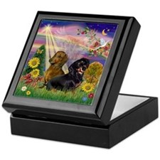 Autumn Angel & Dachshund Pair Keepsake Box