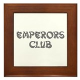 Silver Emperors Club Framed Tile