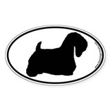 Sealyham Terrier SILHOUETTE Oval Sticker (10 pk)
