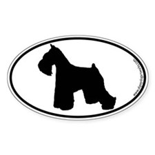 Miniature Schnauzer SILHOUETTE Decal