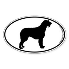 Irish Wolfhound SILHOUETTE Oval Sticker (10 pk)