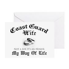 USCG Wife: It's an Honor Greeting Card