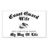 USCG Wife: It's an Honor Rectangle Decal