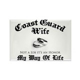 USCG Wife: It's an Honor Rectangle Magnet