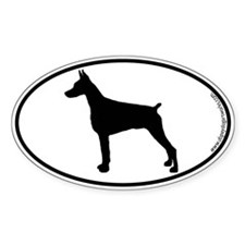 Doberman Pinscher SILHOUETTE Oval Sticker (10 pk)