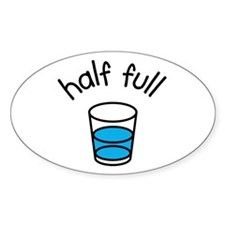 Half Full Oval Decal