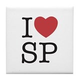 I Heart SP Tile Coaster