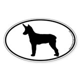 Rat Terrier SILHOUETTE Oval Sticker (50 pk)