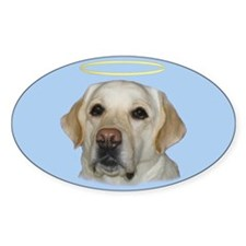 Lab Saint Oval Sticker (10 pk)