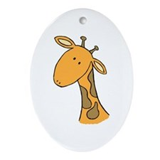 greg the giraffe Keepsake (Oval)