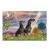 Cloud Angel & Dobie Pair Postcards (Package of 8)