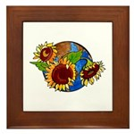 Sunflower Planet Framed Tile